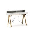 DESK BASIC+_oak_white
