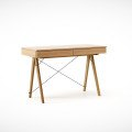 DESK BASIC_oak_luxury wood laquered