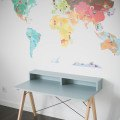 DESK KIDS SLIM+_beech_ice blue_buuba.pl8