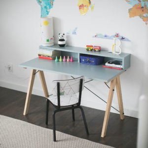 DESK KIDS SLIM+_beech_ice blue_buuba.pl9