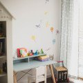 DESK KIDS SLIM+_beech_ice blue_buuba.pl