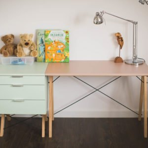 DESK KIDS SLIM_beech_dusty pink+mint_buuba.pl