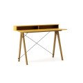 DESK SLIM+_oak_mustard