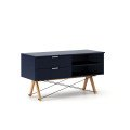 SIDEBOARD TV_beech_dark navy